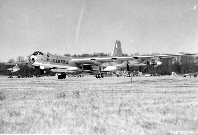 B-36 with B-58 3