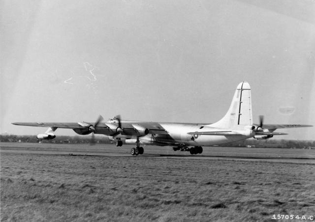 B-36 with B-58 4