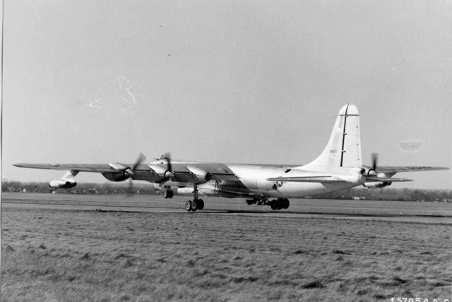 B-36 with B-58
