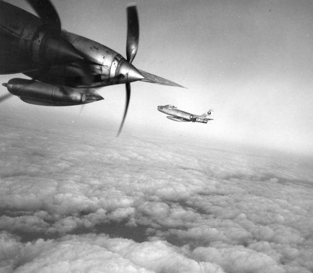 B-36 with F-86