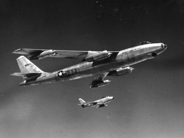 B-47 with F-86