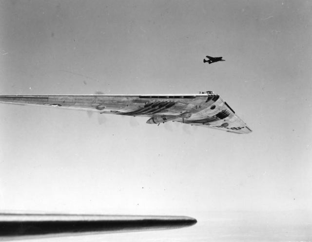 XB-35 In Flight
