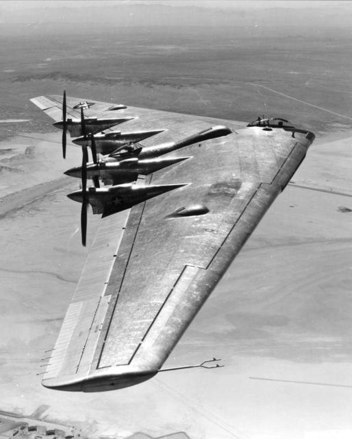 XB-35 In Flight Muroc 1