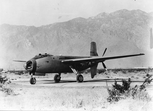 XB-42 Ship 1 Front Quarter
