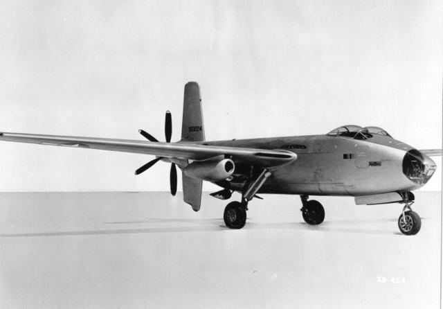 XB-42A Front Quarter