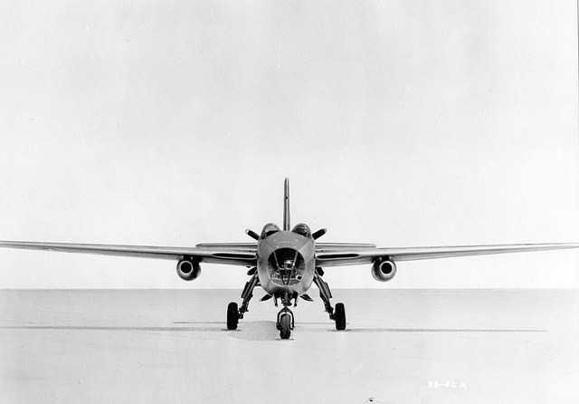 XB-42A Front View