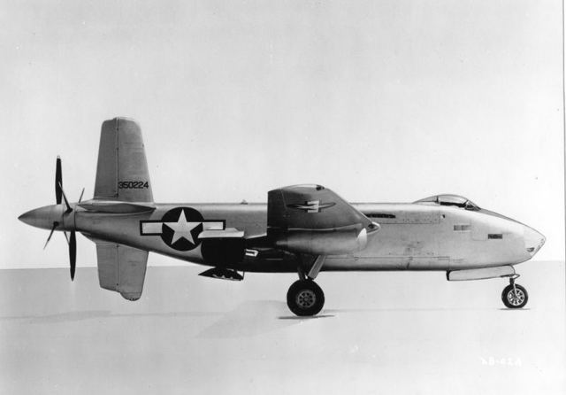 XB-42A Side view