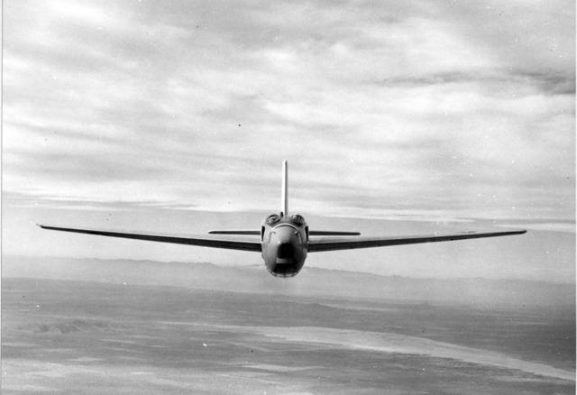 XB-43 Front In Flight