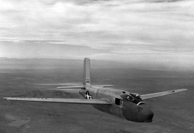 XB-43 Front Quarter Flight