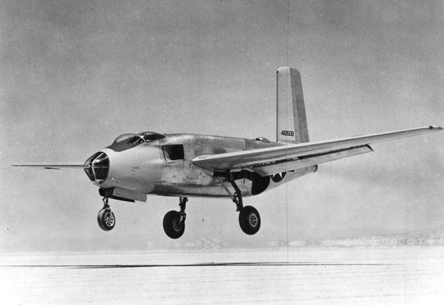 XB-43 Front Quarter Landing