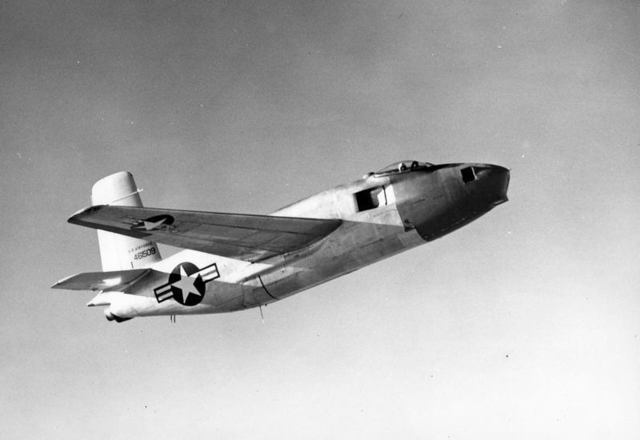 XB-43 Side In Flight