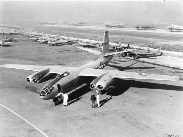 XB-45 Prior to Flight