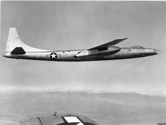 XB-46 In Flight Side