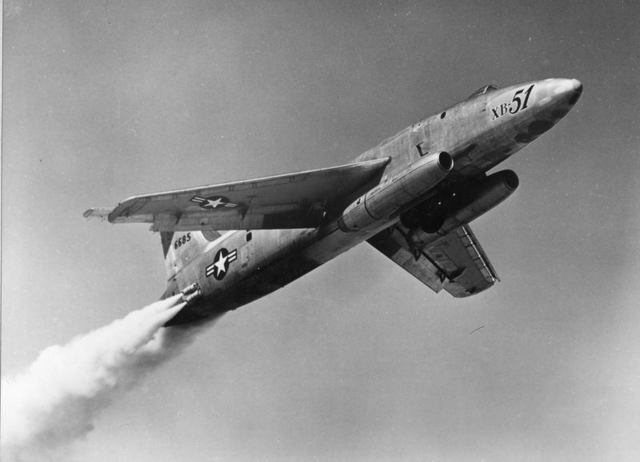 XB-51 JATO Take Off