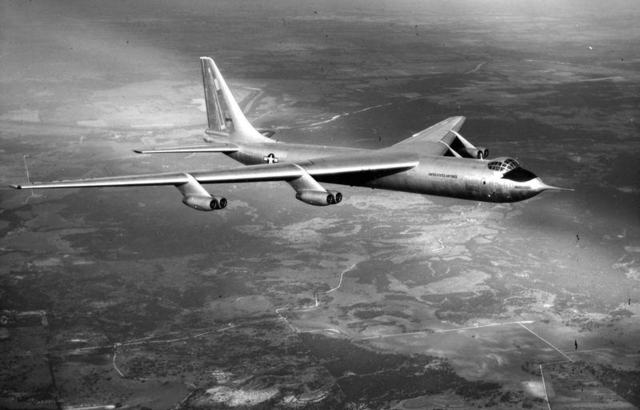 YB-60 In Flight