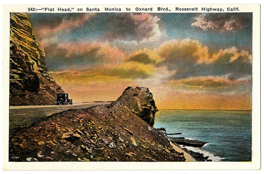 """Flat Head,"" on Santa Monica to Oxnard Blvd., Roosevelt Highway, Calif."