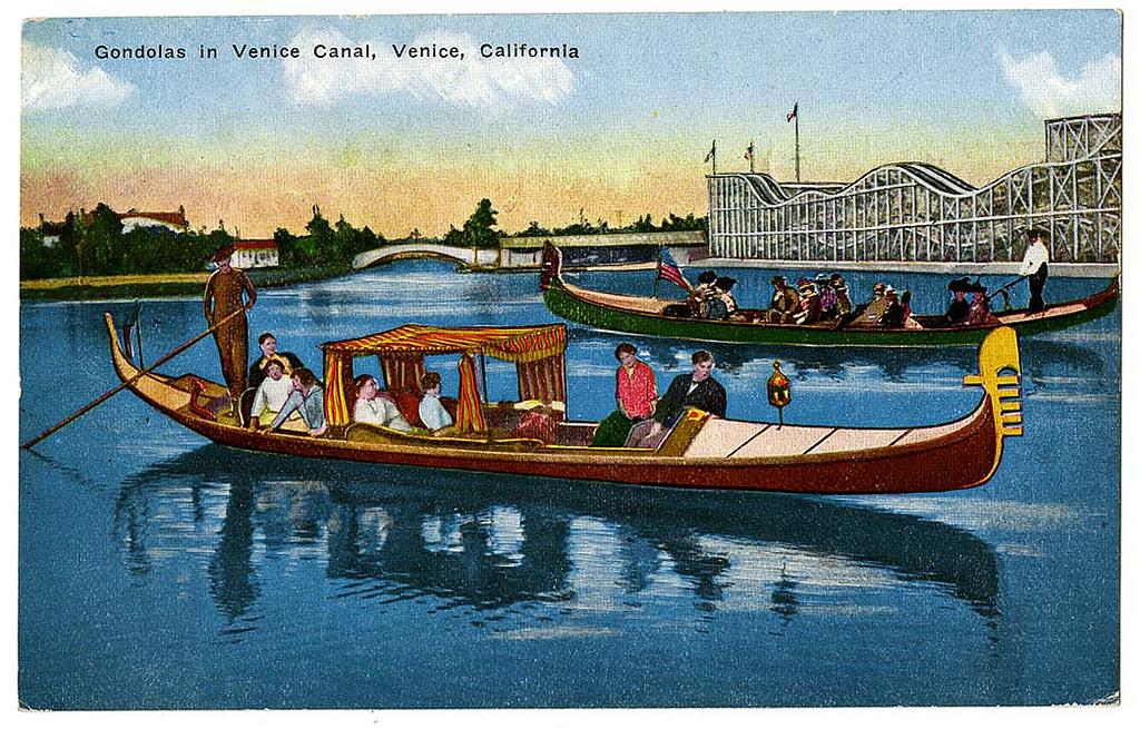 Gondolas in Venice Canal, Venice, California