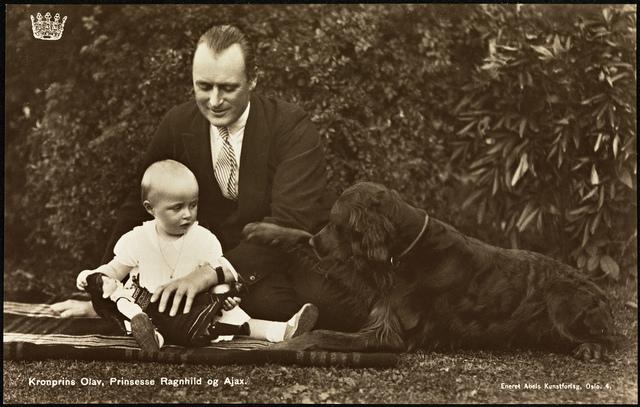 Kronprins Olav, Prinsesse Ragnhild og Ajax, 1931