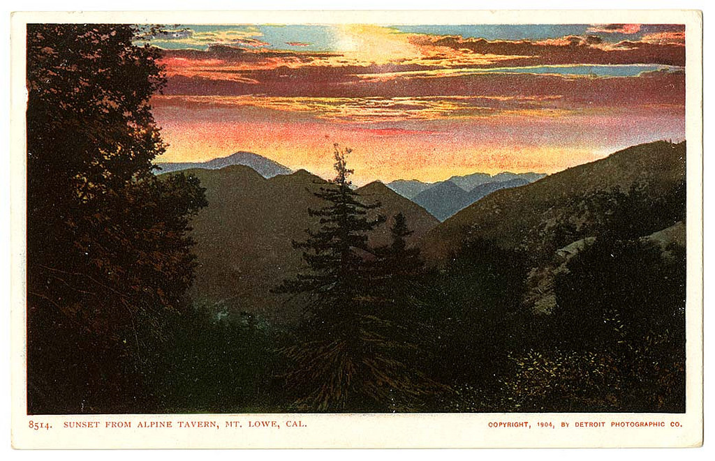 Sunset from Alpine Tavern, Mt. Lowe, Cal.