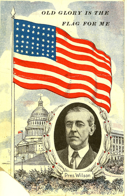 Wilson with American Flag at U.S. Capitol