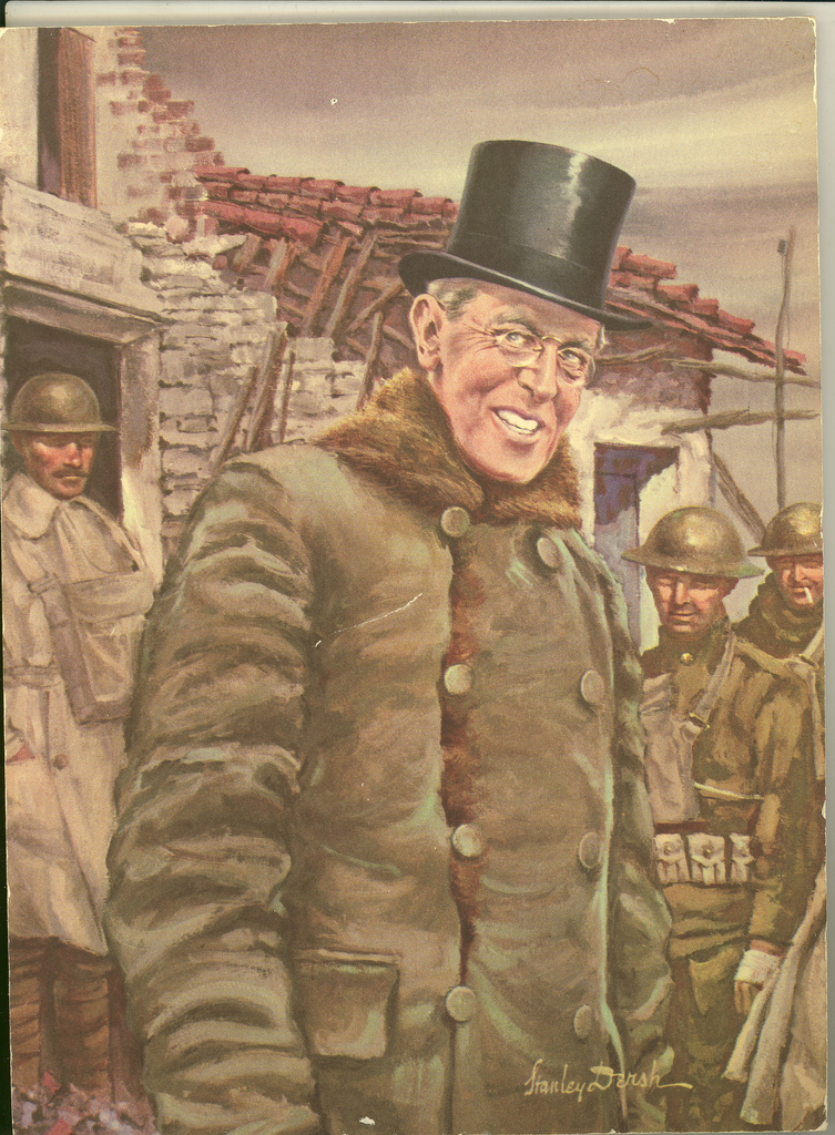 Woodrow Wilson with Soldiers in Europe