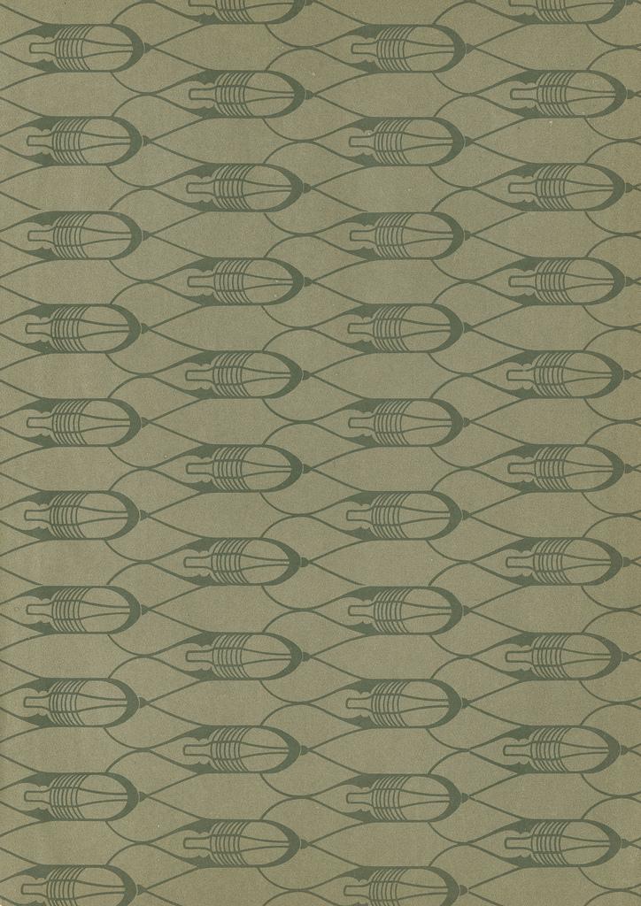 Geometric green pattern