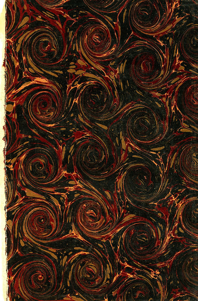 Marbled paper with circle pattern
