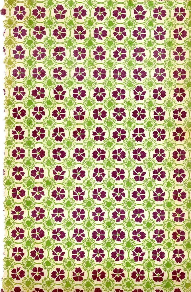 Purple flowers & green leafs