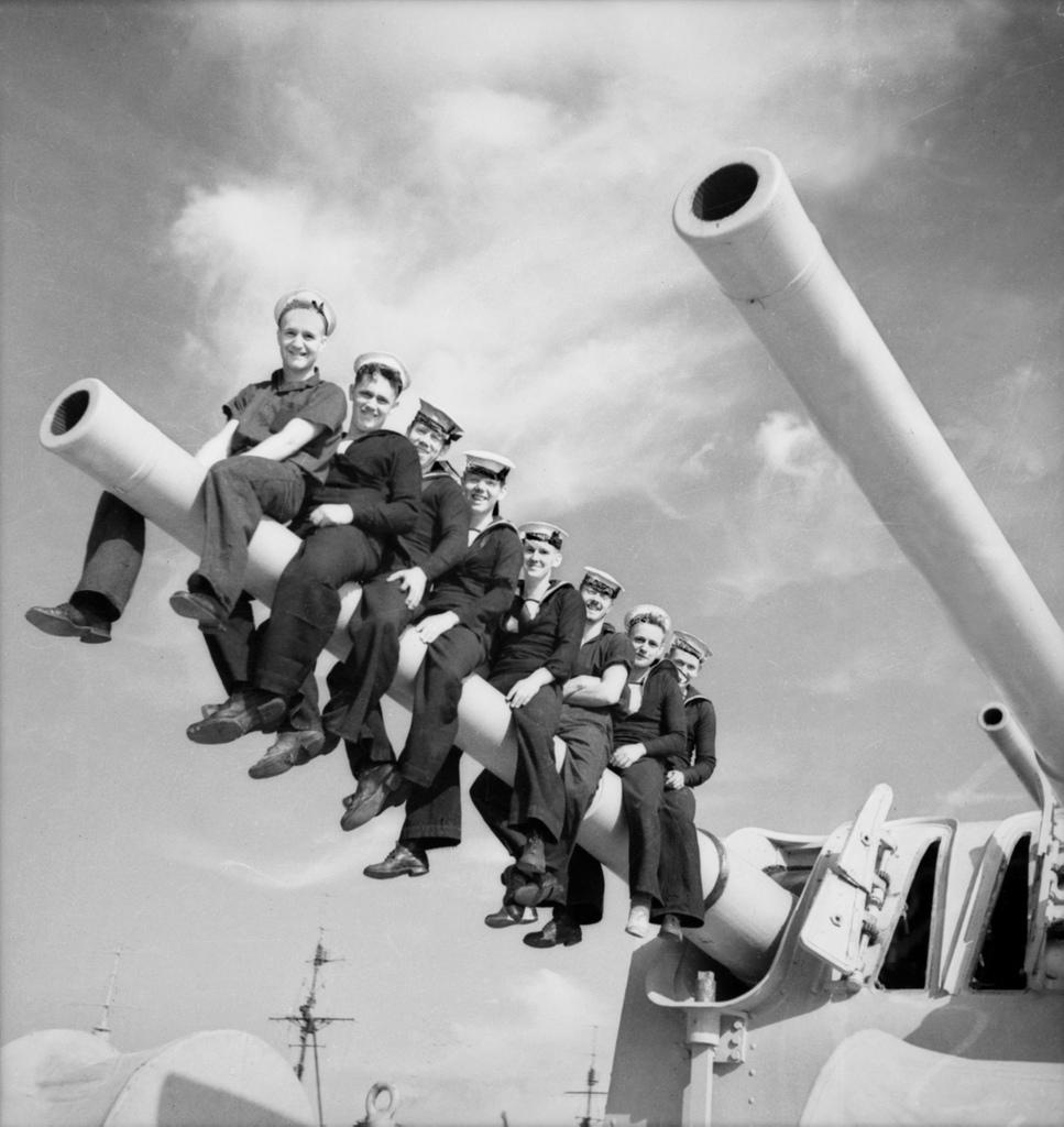 Unidentified sailors on HMAS Perth