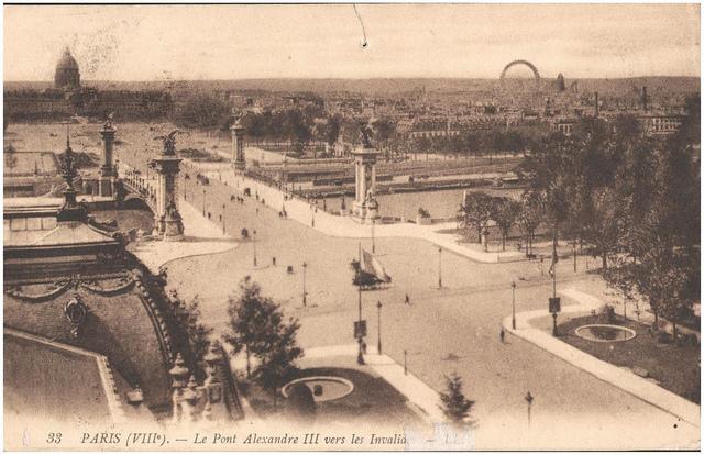 Postcard: Paris (VIIIeme) - Le Pont Alexandre III vers les Invalides
