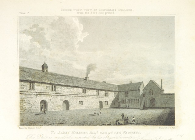 """Architecture from """"History of the Foundations in Manchester of Christ's College [compiled from materials by W. P. Greswell, and others by S. Hibbert]; Chetham's Hospital (and Library, with a genealogical account of the Founder), and the Free Grammar School [by W. R. Whatton]. (An architectural description of the Collegiate Church and College of Manchester, by J. Palmer.-History of Manchester School ... illustrated by numerous biographical and explanatory notes, and a memoir of the life of the Founder, by W. R. Whatton.) L.P"""""""