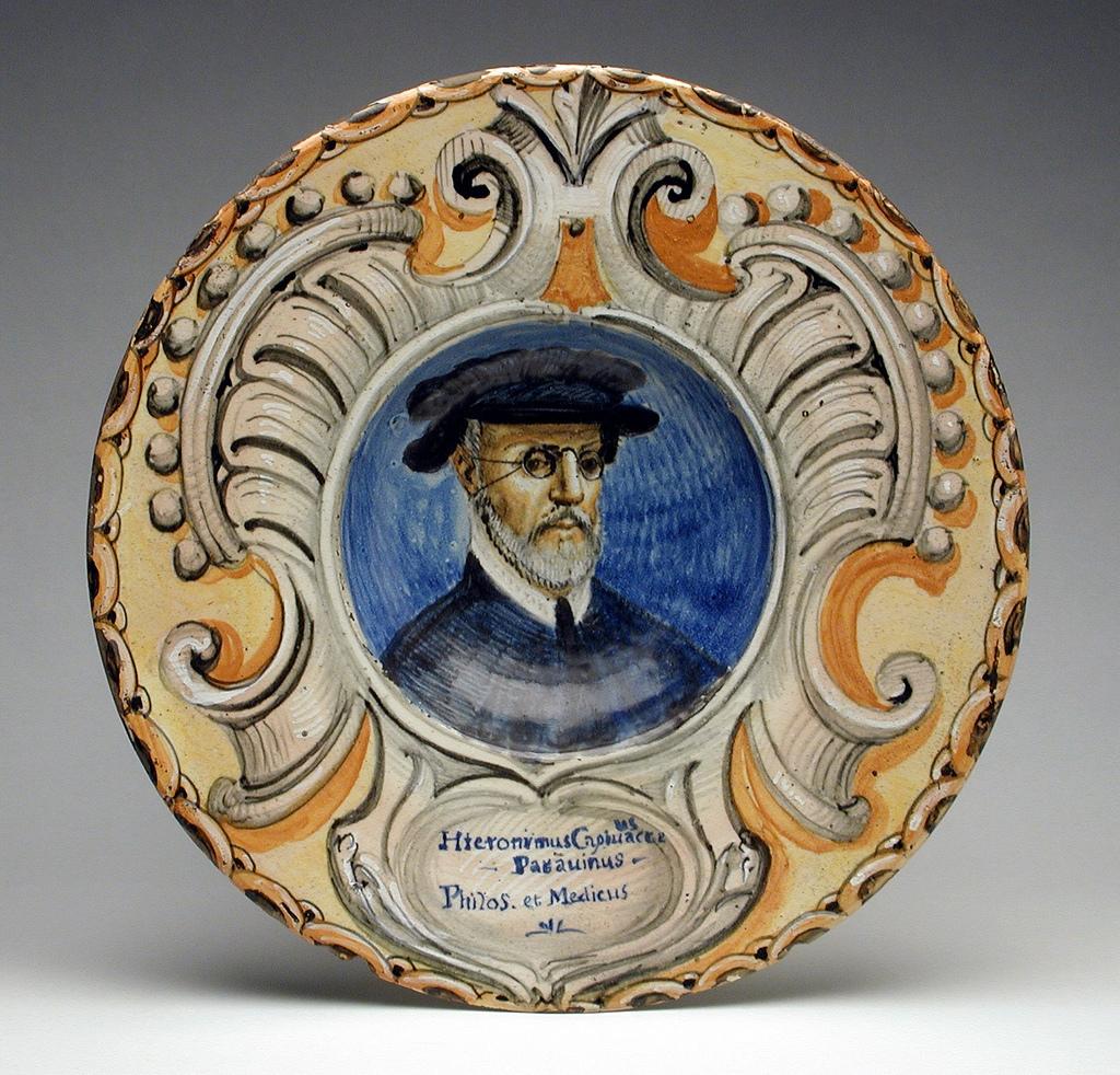 Dish with Portrait of Girolamo Capodivacca of Padua LACMA AC1992.152.123