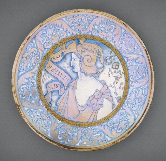 Dish with Scipio Africanus LACMA 50.9.29
