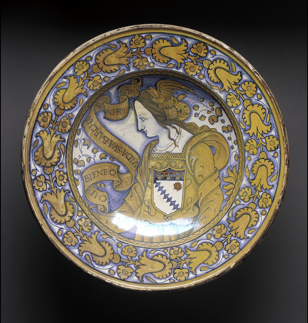 Dish with Woman in a Winged Headdress LACMA 50.9.21