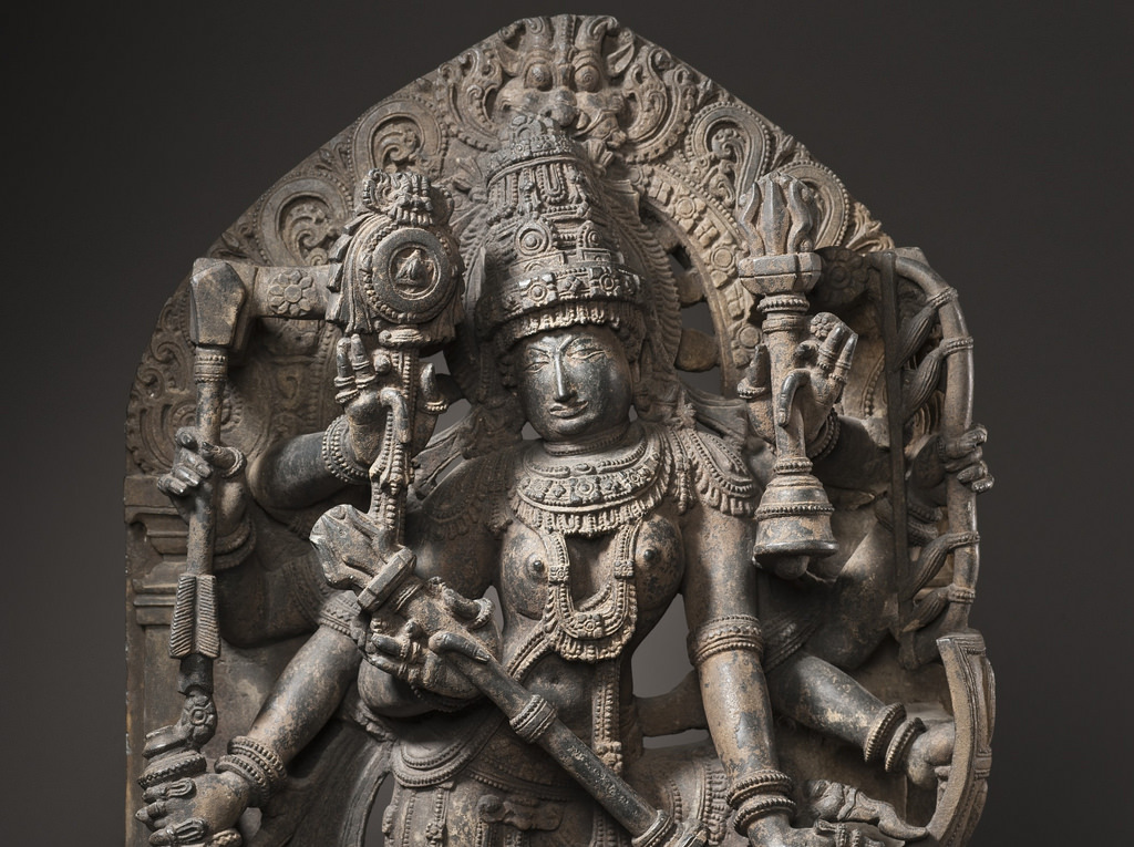 Durga Slaying the Buffalo Demon LACMA M.70.1.1 (5 of 7)