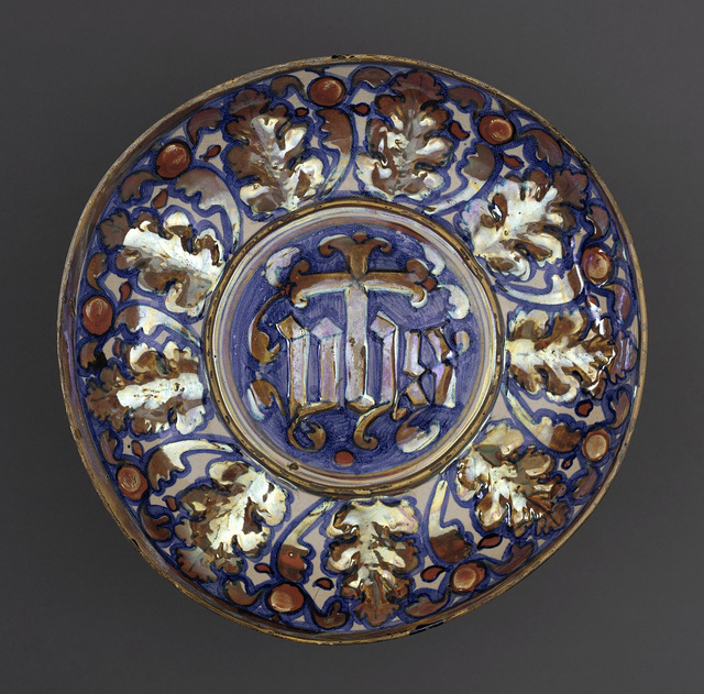 Footed Bowl with the Sacred Monogram (IHS) LACMA 50.9.31