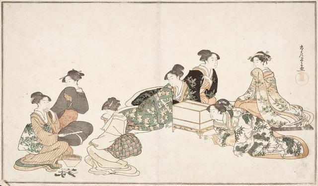 Image from album of poetry 'Haru no iro' LACMA M.2006.136.97 (2 of 3)