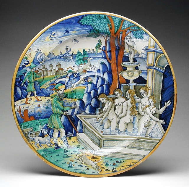 Large Plate- Acteon Surprising Diana LACMA 50.9.18