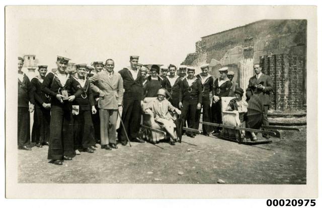 Group of Royal Australian Navy sailors and civilians, July 1925