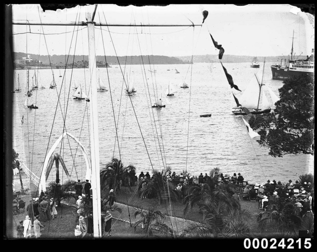 Opening yacht season at the Royal Sydney Yacht Squadron, 1920s