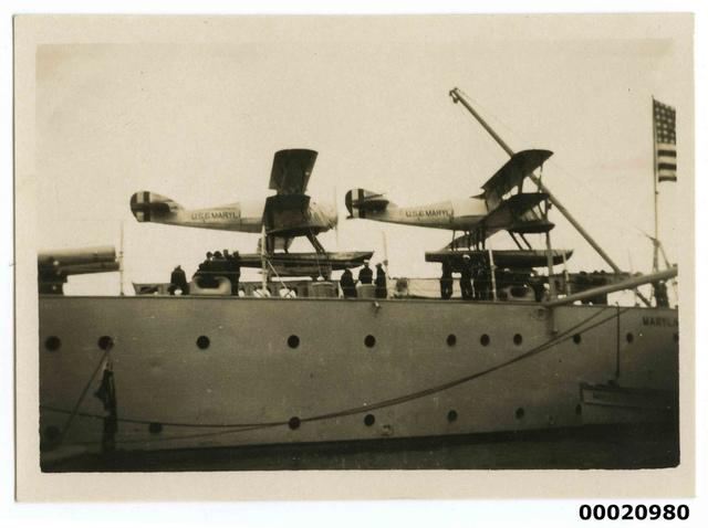 USS MARYLAND seaplanes, July 1925