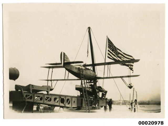 USS NEW MEXICO seaplane, July 1925