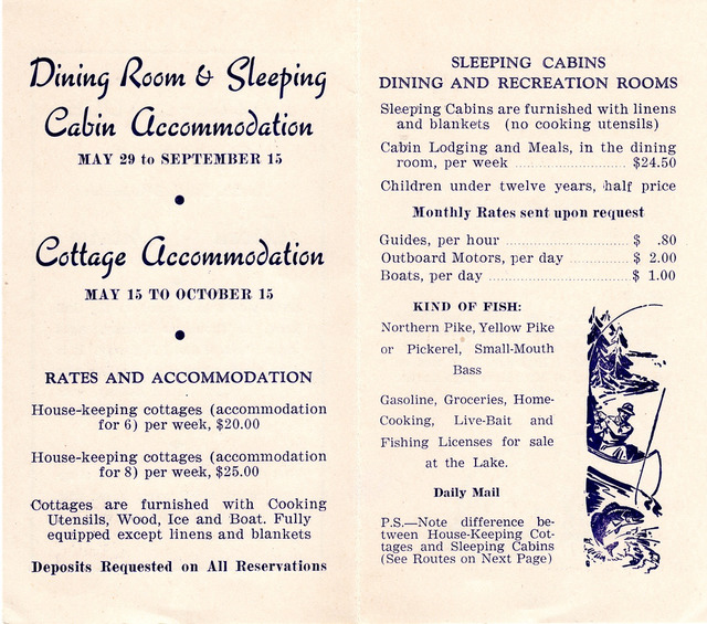 Kirk Kove Resort Brochure page 2, 1948