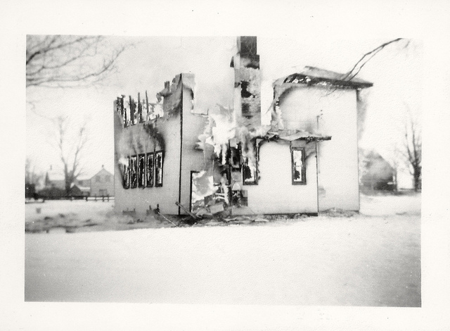 Burning of the 'Tin School' January 5, 1945