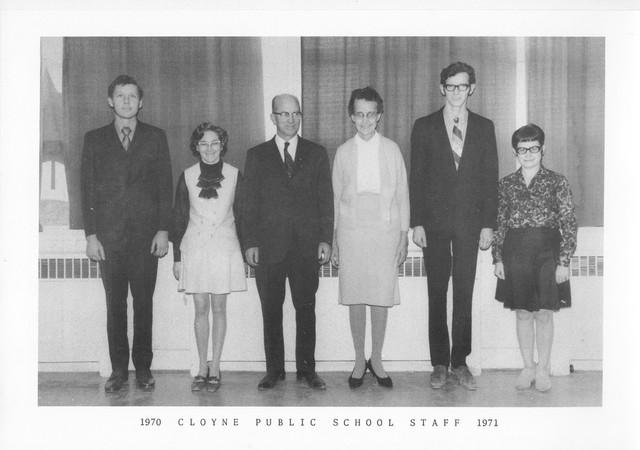 Cloyne Public School Staff 1970-1971
