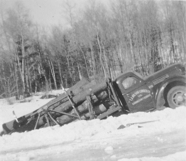 T.A. Wilson Log Truck in Ice - 1