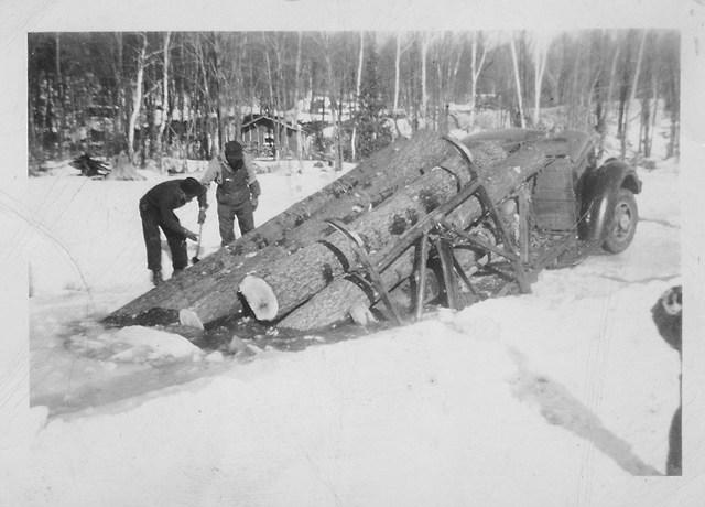 T.A. Wilson Log Truck in Ice 2