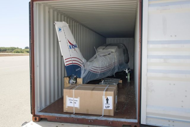 X-57 Aircraft Fuselage Arrives in California