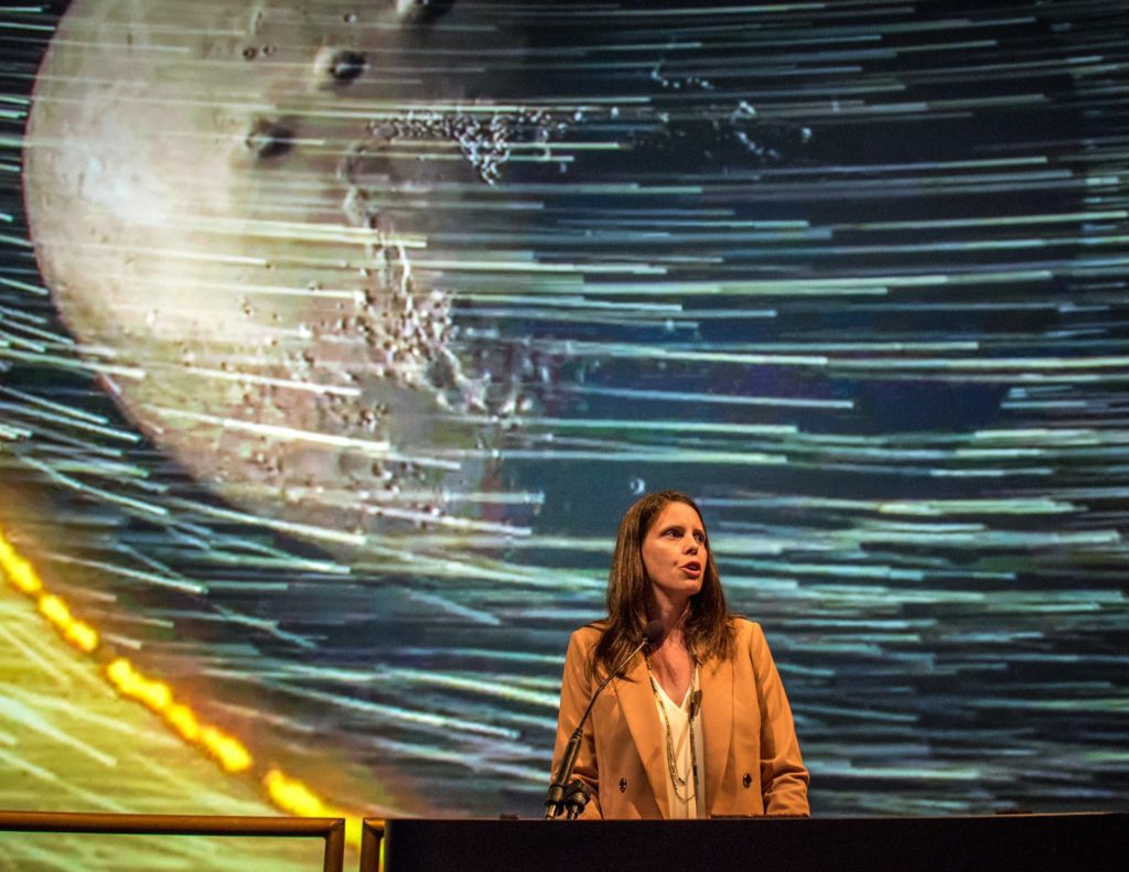 Dr. Jen Eigenbrode at the National Air and Space Museum (NASM) e