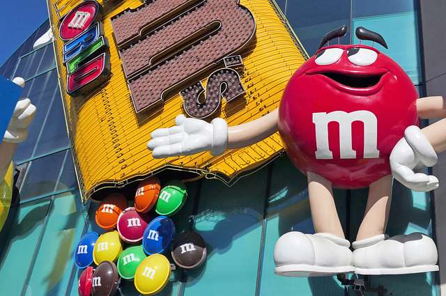 M & M World. Las Vegas.